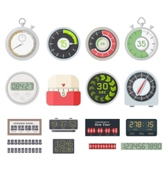 Timer clocks set vector image