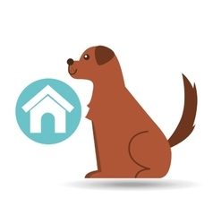 Veterinary clinic concept house dog vector