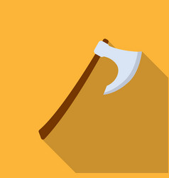viking battle-axe icon in flate style isolated on vector image