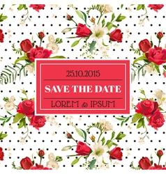 Wedding Invitation or Congratulation Card vector image