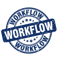 Workflow blue grunge stamp vector