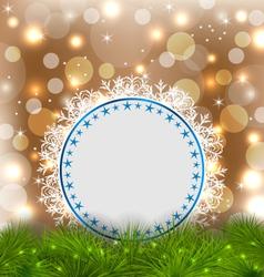 Xmas elegant card on glowing background vector image