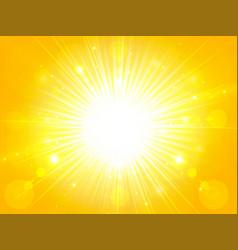 yellow orange summer sun light burst glittering vector image