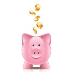 Object piggy bank vector
