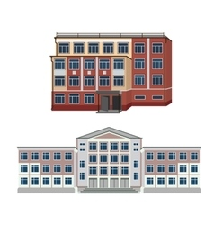 Set with two of buildings vector image
