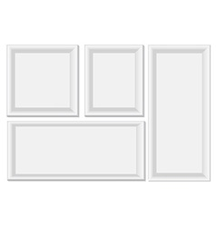 White photo frames vector image vector image