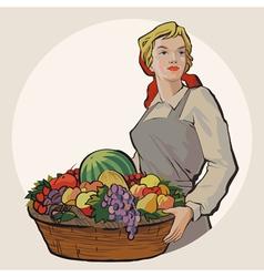 Basketgirl vector image