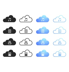 Cloud Computing Collection - Set 2 vector image vector image