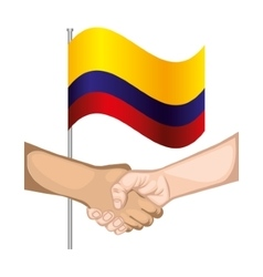 Colombian peace agreement symbol vector image