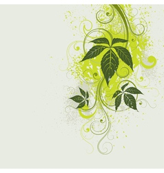 light green floral background vector image vector image