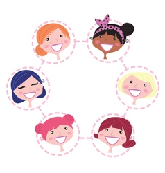 multicultural network group vector image vector image