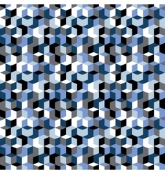 Pattern with cubes in random colors vector
