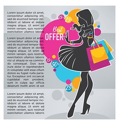 shopping banner vector image vector image