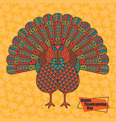Thanksgiving day greeting card various elements vector