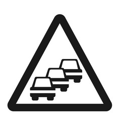 traffic congestion sign line icon vector image vector image