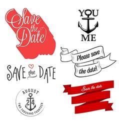 Wedding invitation typographic design elements vector image vector image