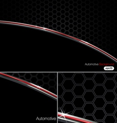 Black n Chrome Automotive Background vector image vector image