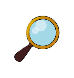 magnifying glass tool vector image