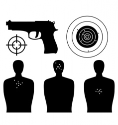 shooting gallery vector image vector image