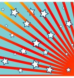 stripes and stars background vector image vector image