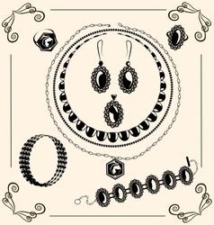 vintage jewel vector image vector image