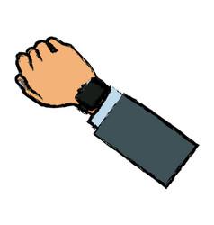 arm hand watch sport design vector image vector image
