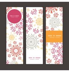 folk floral circles abstract vertical vector image
