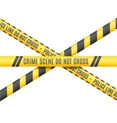 Police Line Scene Crime Do Not Cross vector image vector image