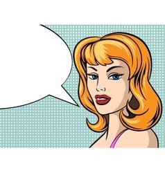 Pop Art Woman Face vector image vector image