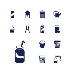 13 can icons vector