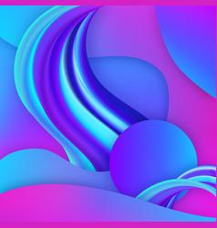3d gradient fluid geometric elements vector image