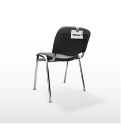 3d modern office chair black cloth with vacant vector image