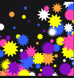 A bright background consisting geometric shapes vector