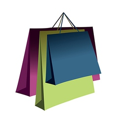A view of shopping bags vector