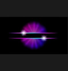 abstract neon web banner futuristic vector image