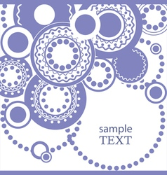 Abstract pattern for text with circles vector image