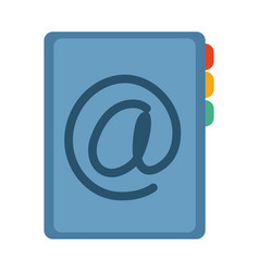 Address book contact office supply stationery work vector