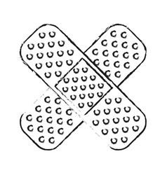 Adhesive bandages healthcare related icon image vector