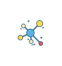 atomic science icon vector image