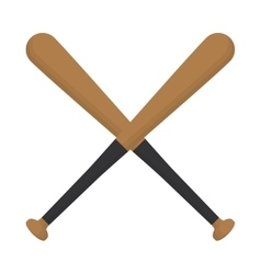 Baseball crossed bats wooden design vector