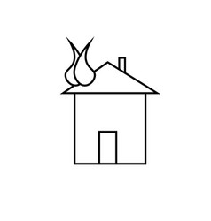burning house vector image