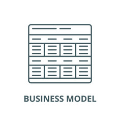 business model line icon linear concept vector image