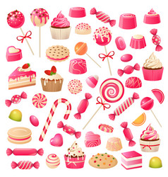 candy set sweet desserts chocolate candies vector image