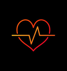 Cardiac cycle bright icon heartbeat vector