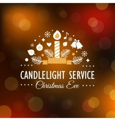 Christmas Eve Candlelight Service Invitation vector image