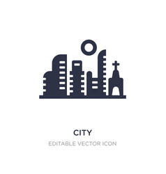 City icon on white background simple element from vector