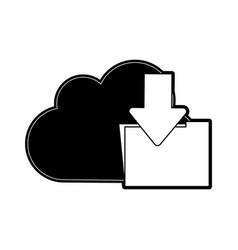 cloud storage arrow file folder icon image vector image vector image