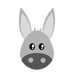 Cute donkey cartoon icon vector