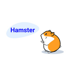 cute little hamster cartoon comic character vector image