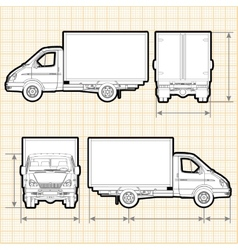 Delivery cargo truck vector